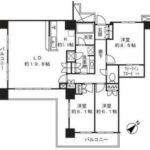 キャナルファーストタワー(3LDK)(間取)