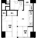 中野スカイマンション(2DK)(間取)